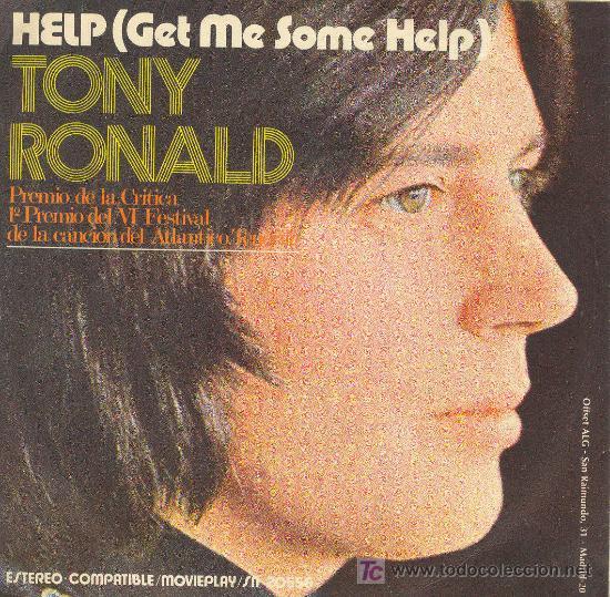 UXV TONY RONALD SINGLE VINILO SOLISTA HOLANDES PREMIO CRITICA HELP ONCE UPON A TIME 1971 (Música - Discos - Singles Vinilo - Otros estilos)
