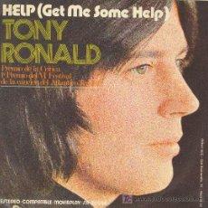 Discos de vinilo: UXV TONY RONALD SINGLE VINILO SOLISTA HOLANDES PREMIO CRITICA HELP ONCE UPON A TIME 1971. Lote 26755336
