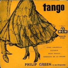 Discos de vinilo: PHILIP GREEN - LUNA AMARILLA / EXASIS / BLUE TANGO / SERENATA EN LA NOCHE - EP. Lote 11564030
