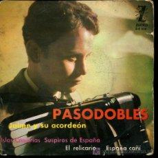 Discos de vinilo: JAIME Y SU ACORDEON - ISLAS CANARIAS / SUSPIROS DE ESPAÑA / EL RELICARIO / ESPAÑA CAÑI - EP 1963. Lote 11566668