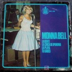 Discos de vinilo: MONNA BELL EP SPAIN LA CHICA DE IPANEMA - HISPAVOX 17-336 YEAR 1965 - JOBIM COVER. Lote 27173854