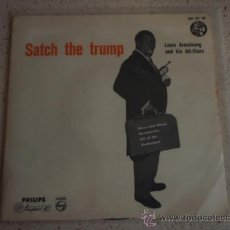 Discos de vinilo: LOUIS ARMSTRONG AND HIS ALL-STARS ?– SATCH THE TRUMP, NETHERLANDS 1956 EP PHILIPS. Lote 11510797