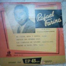 Discos de vinilo: EP- RAFAEL FARINA-DEL ESPECTACULO