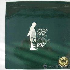 Discos de vinilo: LP HOMENAJE A CHARLIE CHAPLIN - ORQUESTA Y COROS DELFESTIVAL DE LONDRES-STANLEY BLACK. Lote 26350284