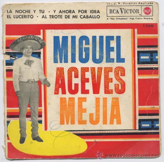 DISCO *MIGUEL ACEVES MEJIA* - MARIACHI - 1962 (Música - Discos - Singles Vinilo - Grupos y Solistas de latinoamérica)