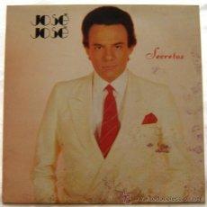 Discos de vinilo: DISCO LP VINILO -SECRETOS-JOSE JOSE-ARIOLA-. Lote 11616001