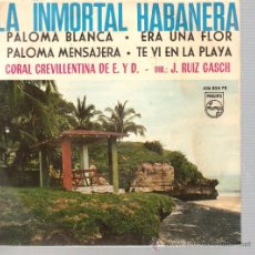 Discos de vinilo: EP HABANERAS - CORAL CRIVILLENTINA . Lote 39718428