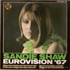 Discos de vinilo: EP HPV337-36 SANDIE SHAW EUROVISION 1967 45RPM HISPAVOX. Lote 11625238