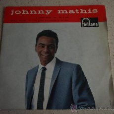 Discos de vinilo: JOHNNY MATHIS ( CERTAIN SMILE - LET IT RAIN - TEACHER, TEACHER - I'V GROWN ACCUSTOMED TO HER FACE) . Lote 11628830