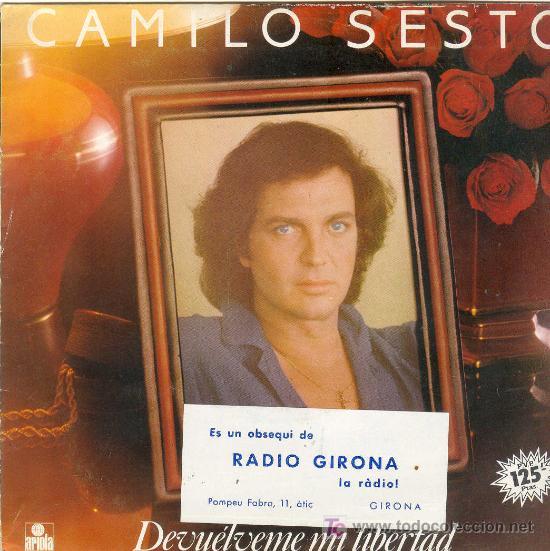 UXV CAMILO SESTO DISCO VINILO NUEVO DEVUELVEME LA LIBERTAD PUENTE SOBRE AGUAS TURBULENTAS 1982 (Música - Discos - LP Vinilo - Cantautores Extranjeros)