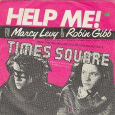 Discos de vinilo: UXV HELP ME BY MARCY LEVY & ROBIN GIBB DISCO SG VINILO TIME SQUARE 1980 . Lote 26955669