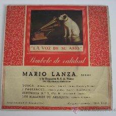 Discos de vinilo: MARIO LANZA , LA VOZ DE SU AMO, 1950.. Lote 24499093