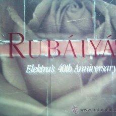 Discos de vinilo: RUBAIYAT(THE CURE,METALLICA Y OTROS) ELEKTRAS 40TH ANNIVERSARY DEL 90 4 LP Y CON LIBRETO. Lote 151257720