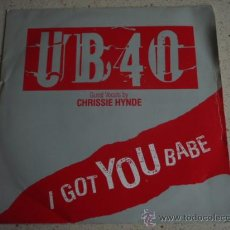Discos de vinilo: UB40 ( I GOT YOU BABE - THEME FROM LABOUR OF LOVE ) 1985 SINGLE45 DEP INTERNATIONAL. Lote 11694316