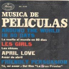 Discos de vinilo: UXV MUSICA DE PELICULAS SINGLE VINILO 1959 PIERRE LA BLANC LES GIRLS APRIL LOVE MERCURY RECORDS. Lote 26563925