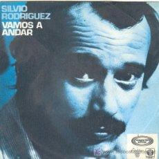 Discos de vinilo: UXV SILVIO RODRIGUEZ SINGLE 45RPM PROMOCIONAL1980 VAMOS ANDAR FABULA DE LOS TRES AMIGOS CANTAUTOR . Lote 23313715