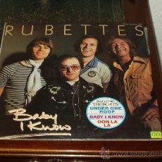 Discos de vinilo: RUBETTES LP BABY I KNOW. Lote 20345358
