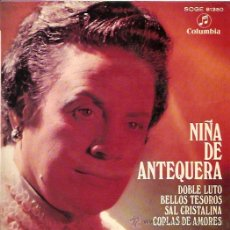 Discos de vinilo: NIÑA DE ANTEQUERA EP SELLO COLUMBIA AÑO 1969. Lote 11811520