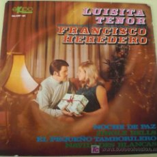 Discos de vinilo: LUISITA TENOR & FRANCISCO HEREDERO - EP SPAIN 1967 EKIPO. Lote 27173862