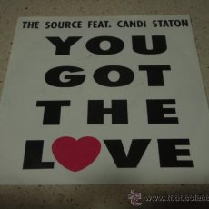 Discos de vinilo: THE SOURCE FEATURING CANDI STATON ( YOU GOT THE LOVE 2 VERSIONES ) 1991 SINGLE45 MEGA RECORDS. Lote 11827317