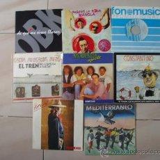 Discos de vinilo: LOTE 8 SINGLES ROCK Y POP ESPAÑOL. Lote 27131832