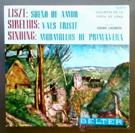 ORQUESTA DE LA OPERA DE VIENA - LISZT (SUEÑO DE AMOR) / SIBELIUS (VALS TRISTE) + 1 - EP BELTER 1964 (Música - Discos de Vinilo - EPs - Clásica, Ópera, Zarzuela y Marchas)