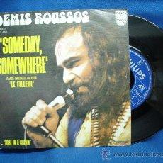 Disques de vinyle: - DEMIS ROUSSOS - SOMEDAY,SOMEWHERE- PHILIPS 1974. Lote 21961363