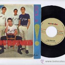 Discos de vinilo: LOS BRINCOS. VINILO SINGLE 45 RPM. BORRACHO + SOLA. NOVOLA AÑO 1965. Lote 27082242