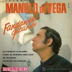 Discos de vinilo: MANOLO DE VEGA EP SELLO BELTER AÑO 1968. Lote 11949911