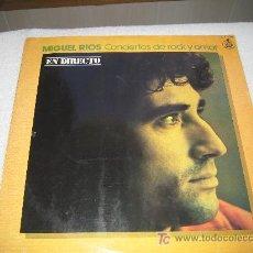 Discos de vinilo: MIGUEL RIOS - CONCIERTOS DE ROCK Y AMOR - EN DIRECTO. Lote 11972385