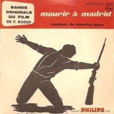 Discos de vinilo: BANDA SONORA DEL FILM MOURIR A MADRID EP SELLO PHILIPS EDICCIÓN FRANCESA. Lote 11982820