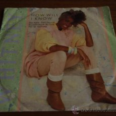 Discos de vinilo: WHITNEY HOUSTON ( HOW WILL I KNOW - SOMEONE FOR ME ) 1985-GERMANY SINGLE45 ARISTA RECORDS. Lote 11993498