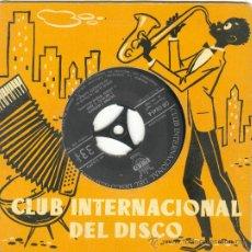 Discos de vinilo: UXV GERALDO LA VINY Y SU ORQUESTA CON JOE CLEMENDORE SINGLE VINILO 33 1/3 RPM CALYPSOS MERENGUES. Lote 26217165