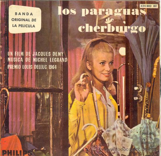 UXV LOS PARAGUAS DE CHERBURGO SINGLE VINILO BANDA ORIGINAL MICHAEL LEGRAND 1964 DENEUVE GUY (Música - Discos de Vinilo - EPs - Bandas Sonoras y Actores)