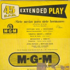 Discos de vinilo: UXV SIETE NOVIAS PARA SIETE HERMANOS SINGLE VINILO ORQUESTA MGM 195? MUJERES DESCONSOLADAS. Lote 26795369