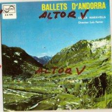 Discos de vinilo: EP Z-E 779 BALLETS ANDORRA COBLA MARAVELLA NITS ANDORRA BALL PLA BALL SANTA ANA CONTRAPAS ZAFIRO. Lote 26921780