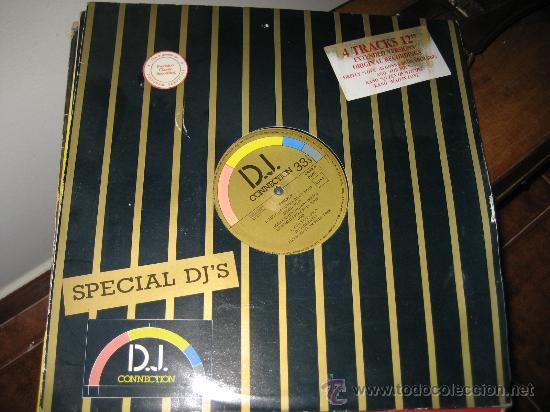 LP. D.J. CONNECTION, ESPECIAL DJ'S. 4 VERSIONES EXTENDIDAS CON TEMAS ORIGINALES (Música - Discos - LP Vinilo - Disco y Dance)