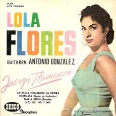 Discos de vinilo: LOLA FLORES EP SELLO SEECO AÑO 1961. Lote 12099091