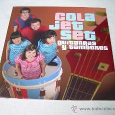 Discos de vinilo: LP COLA JET SET GUITARRAS Y TAMBORES VINILO LOS FRESONES REBELDES. Lote 36327328