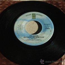 Discos de vinilo: JOE COCKER ( WATCHING THE RIVER FLOW - FUN TIME )USA-1978 SINGLE45 ASYLUM RECORDS. Lote 12120355