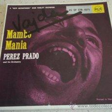 Discos de vinilo: PEREZ PRADO & HIS ORCHESTRA (SKOKIAAN - MAMBO EN SAX - BALLIN' THE JACK - CHERRY PINK AND APPEL . Lote 12123986
