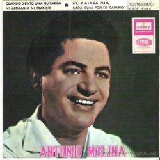 Discos de vinilo: ANTONIO MOLINA - CUANDO SIENTO UNA GUITARRA *** EP 1965 EMI ODEON . Lote 12129839