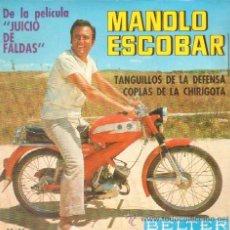 Discos de vinilo: MANOLO ESCOBAR TANGUILLOS DE LA DEFENSA / COPLAS DE LA CHIRIGOTA RF-2134. Lote 211874496