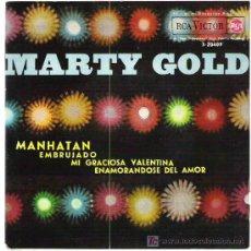 Discos de vinilo: MARTY GOLD - MANHATAN *** EP 1962 RCA VICTOR. Lote 13920446