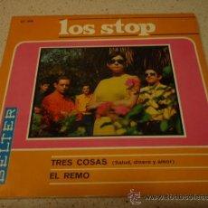 Discos de vinilo: LOS STOP ( 'TRES COSAS' SALUD, DINERO Y AMOR - EL REMO ) 1967 ESPAÑA SINGLE45 BELTER. Lote 12190820