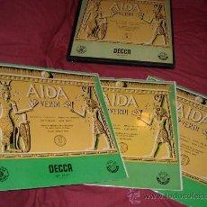 Discos de vinilo: VERDI..AIDA OBRA COMPLETA ..TEBALDI..MONACO..EREDE.. CAJA 3 LP 195¿ SPA DECCA LXT 2735-36-37. Lote 22310331
