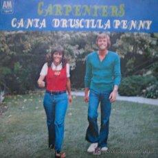 Discos de vinilo: CARPENTERS : CANTA; DRUSCILLA PENNY. 1973. HISPAVOX HS 916. Lote 12209665