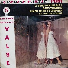 Disques de vinyle: DV0509.- SURPRISE-PARTIE PBM. VALSES. Lote 24828149