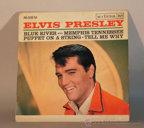 VINYL EP DISCO ELVIS PRESLEY BLUE RIVER RCA (Música - Discos de Vinilo - EPs - Rock & Roll)