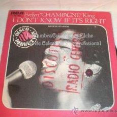 Discos de vinilo: DISCO SINGLE EVELYN - CHAMPAGNE - KING, AÑO 1979.. Lote 12271594
